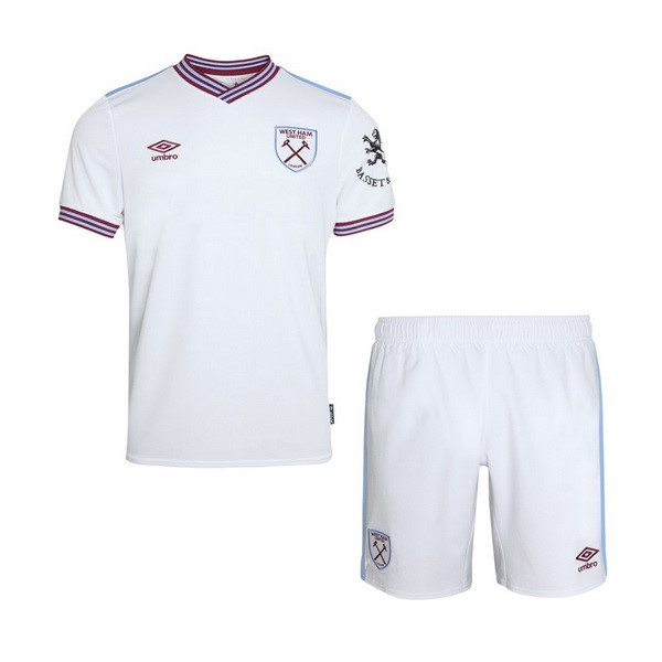 Camiseta West Ham United Replica Segunda Niño 2019/2020 Blanco